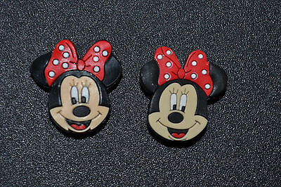 2pc Minnie Mouse w/ Red Bow Jibbitz Charms USA Seller
