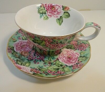 Edwardian Collection China Cup & Saucer Made in England