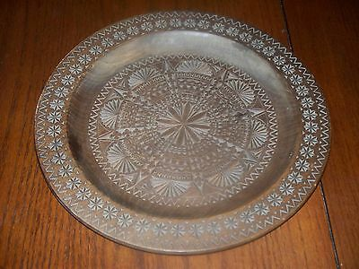 Handcarved Decorative Wood Plate