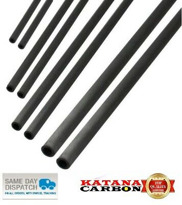 UD 1 x OD 8mm x ID 6mm x 1000mm (1 m) Premium 100% Carbon Fiber Tube Pultruded