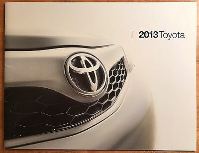 2013 Toyota Full Line Including Trucks And SUV Brochure