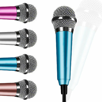 3.5mm Mini Stereo Microphone Mic For Android iPhone PC Chatting Singing Karaoke