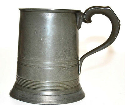 A Victorian  Pewter 1/2 PT Tankard - FREE Shipping [PL3177]