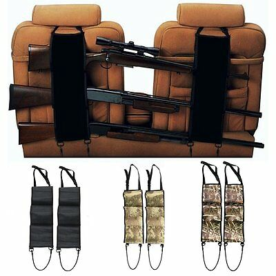 Seat Back Gun Rack Rifle Shotgun Vehicle Car Pickup Truck Hunting Storage Holder