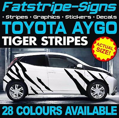 Toyota Aygo Tiger Stripes Graphics Stickers Decals Ab10 Ab40 Vvti 1.0 1.2 1.4