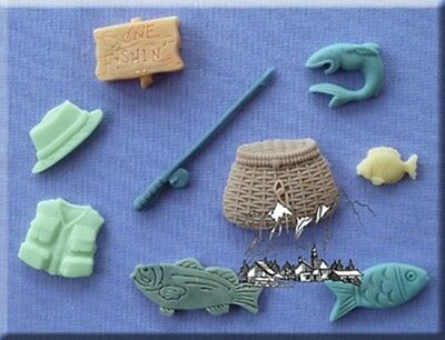 Gone Fishing Silicone Cake Decorating Mould by Alphabet Moulds