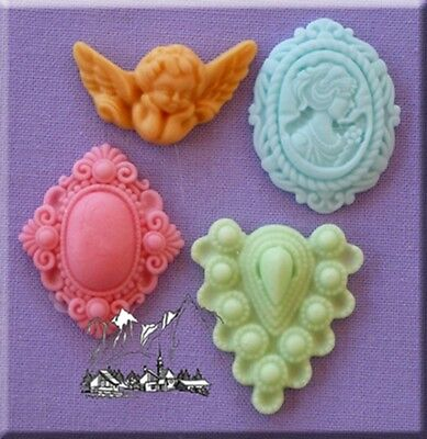 Classical Cameo Silicone Cake Decorating Mould by Alphabet Moulds