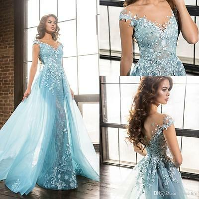 New Long Vintage Formal Party Evening Dress Celebrity Cocktail Prom Wedding Gown