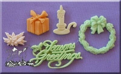 Seasons Greetings Silicone Cake Decorating Mould by Alphabet Moulds