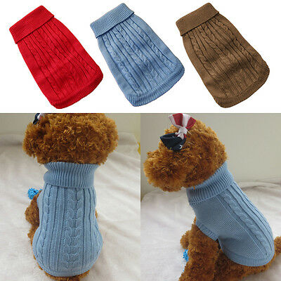 Pet Dog Warm Clothes Coat Apparel Jumper Sweater Puppy Cat Knitwear Costume New