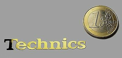 TECHNICS METALISSED GOLD EFFECT STICKER LOGO AUFKLEBER 50x7mm [619]