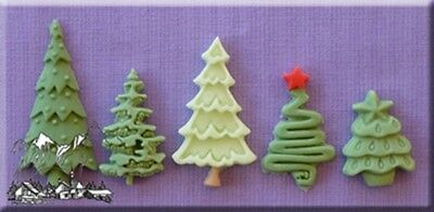 Christmas Trees Silicone Cake Decorating Mould by Alphabet Moulds