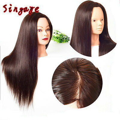 """28"""" Hairdresser Makeup Hairstyling Training Mannequin Practice Head Doll Model"""