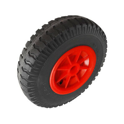Puncture Proof Rubber Tyres on Red Wheel - Kayak Trolley/Trailer Wheel