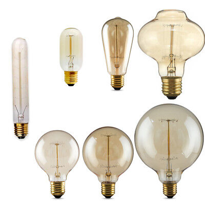 Vintage Light Bulb 60W Antique Retro Industrial Filament Squirrel Cage Edison UK