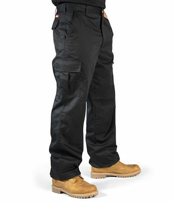 Lee Cooper  Mens Workwear Combat Cargo Work Trousers Pants Black Lcpnt205