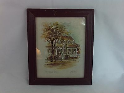 Coby Carlson Framed Print The Releigh Tavern Vintage #4333-5 Williamsburg