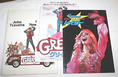 Olivia Newton John Grease Tomorrow official Movie Programs & mini-poster Japan