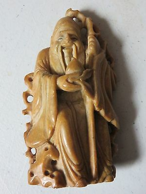 Antique Chinese Soapstone Carved Figure