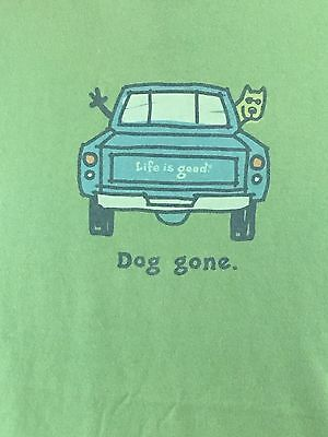LIFE IS GOOD Men's Classic Fit Dog Gone Short Sleeve T-Shirt Size L NEW