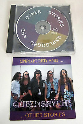 Queensryche RARE CD Unplugged and other Stories Autographed by 4 (but not Geoff)