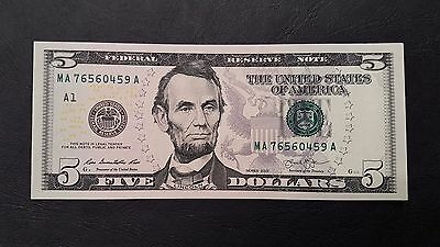B-D-M Estados Unidos United States 5 Dollars Lincoln 2013 Pick New A Boston UNC