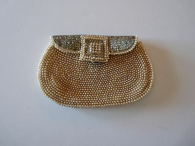 "Vintage Pearl Bead Bag Labelled Sharone""s  Made in Japan"