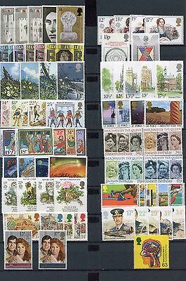 Selection of GB Commemorative (100+) - see all 3 scans! Mostly Mint Hinged.