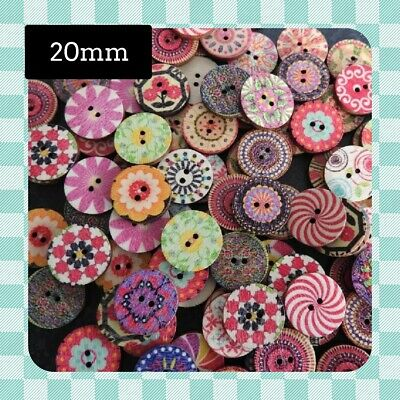 50 Shabby Chic VINTAGE - 20mm - Round Buttons - Scrapbooking - Crafting - Sewing