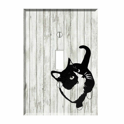 Black Cat Light Switch Plate Wall Cover Pet Decor