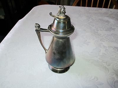 Beautiful Antique Silver Plate Syrup Pitcher Middletown Plate Co