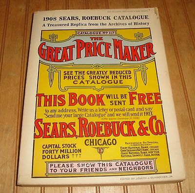 1908 SEARS ROEBUCK Catalog ~ Vintage 1969 Reproduction 1,184 page Book