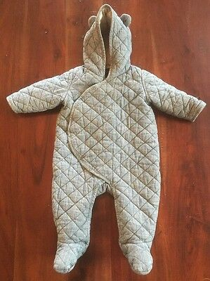 Gap Baby Outerwear - Unisex - Chambray Bunting Snowsuit 6-12 Months - EUC
