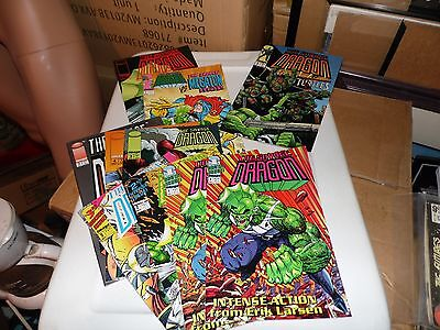 Savage Dragon lot of 10 books #1(x2) #2 #3 (1992) #1 #3 #4 #5 (1993) TMNT #2 and