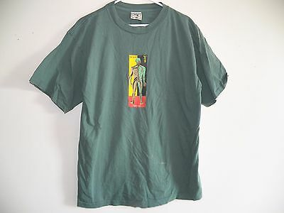 Vintage 1990s PEARL JAM NERVOUS 70% Water Green Grunge Rock Band Mens T-Shirt XL