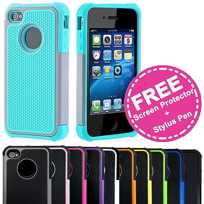 Shockproof Heavy Duty Hard Tough Armor Cover Gel Case for Apple iPhone 5C