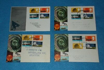 First Day Covers British Technology 19.9.1966 Various Postmarks Select Cover