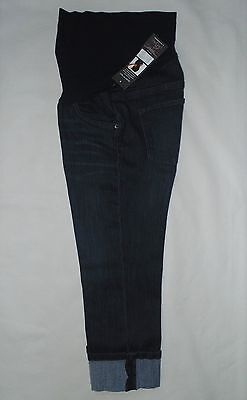 Oh Baby by Motherhood Size S/M/L Maternity Capris Dark Wash Blue Denim Cropped