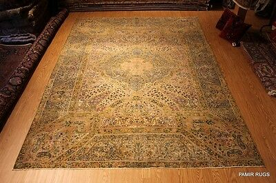 Last Quarter of 19TH CENTURY Antique Persian Lavor Kirman 9'X12' MUSUEM PIECE