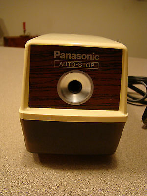 Vintage Panasonic Automatic Pencil Sharpener with Auto Stop Model KP-100
