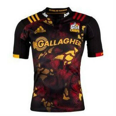 New Zealand 2017 Chiefs Rugby Jersey Shirt Tops Rugby shirt tee SIZE: S-3XL