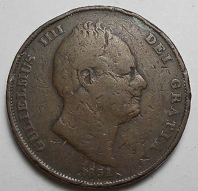 Great Britain 1831 Penny Rare Low Mintage Only 806,000!!!