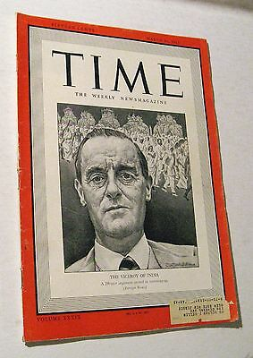 Vintage Time Magazine March 16, 1942 The Viceroy of India Weekly News WWII Era