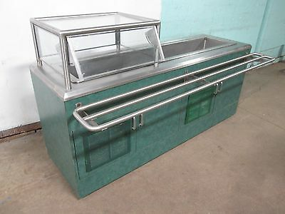 """""""atlas Metal"""" H.d. Commercial Refrigerated 75""""w Cold Food Buffet/salad Bar"""