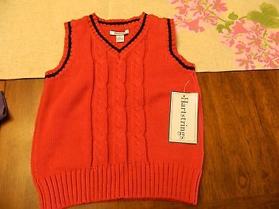 NWT Boys Hartstrings Easter/Holiday Sweater Vest size 3T