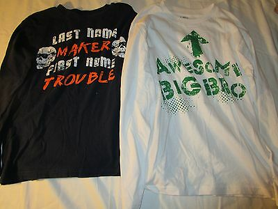 2 boys The Childrens place long sleeved shirts size L 10/12