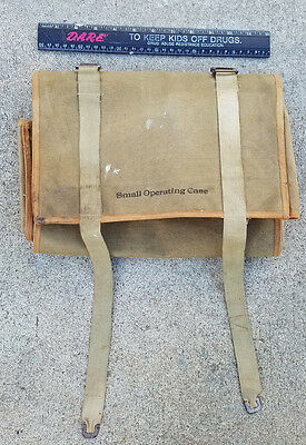 WW I dated medical surgical tool case, canvas, five tools