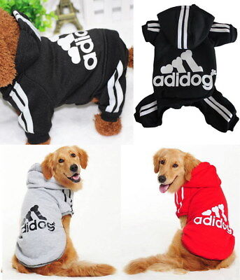 Puppy Small to Large Pet Dog Cat Winter Soft Clothes Jacket Hoody Shirt Jumpsuit