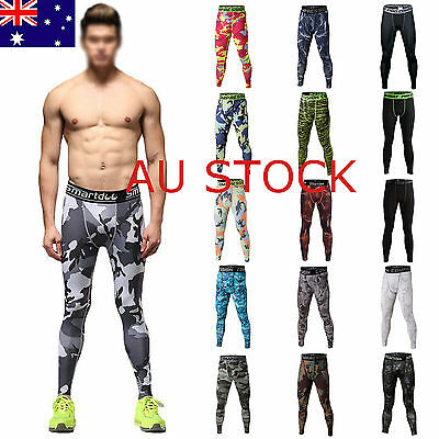 Hot Mens Compression Skin Tights Long Pants Base Under Layer Sports Gear Workout