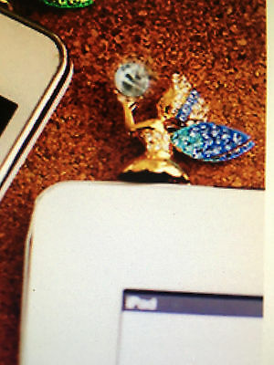 Adorable Rhinestone Angel Anti Dust Plug Charm For Phone/Android 3.5mm